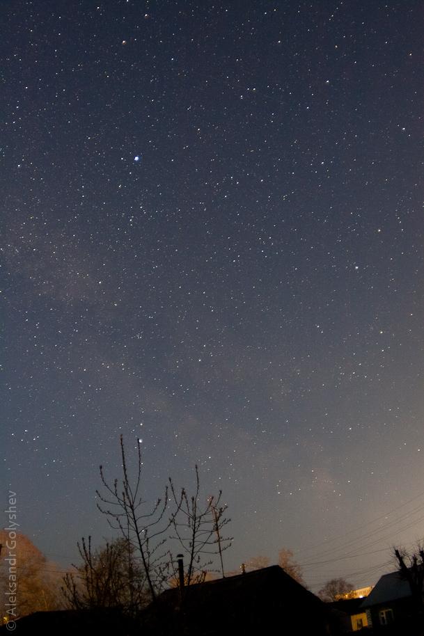 Весеннее ночное небо