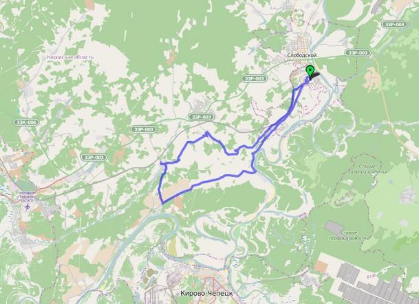 маршрут до Волково