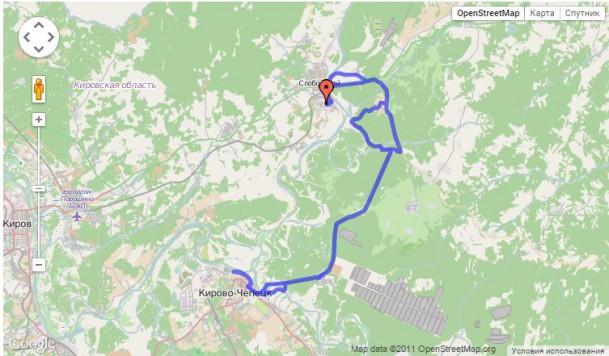 маршрут до Чепецка