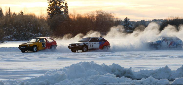Автогонки на льду на Курье