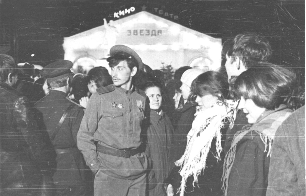 """На съемках фильма """"Карусель на базарной площади"""", 1986 г."""