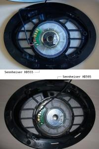 Sennheiser HD 555 и Sennheiser HD 595