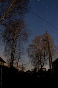 Наш переулок в ночи