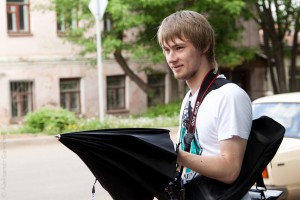 Никита и зонт :)