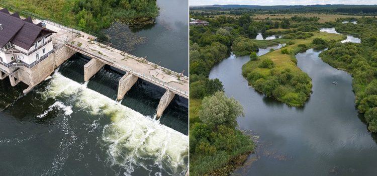 Перевозская ГЭС на реке Воя